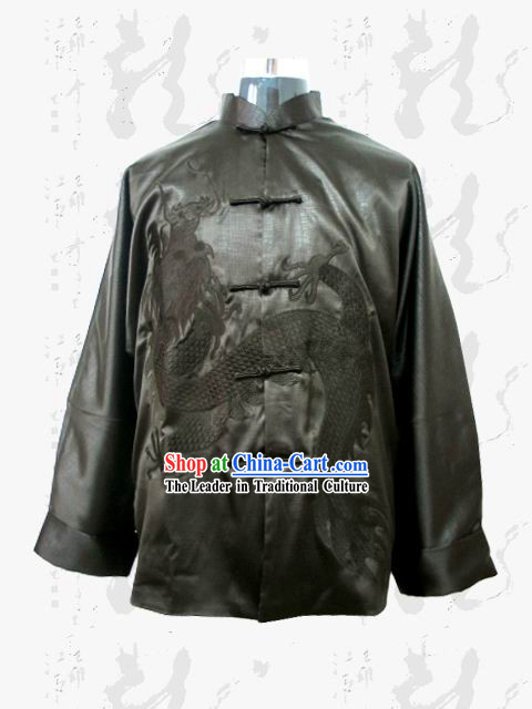 Chinese Dragon Silk Blouse for Man