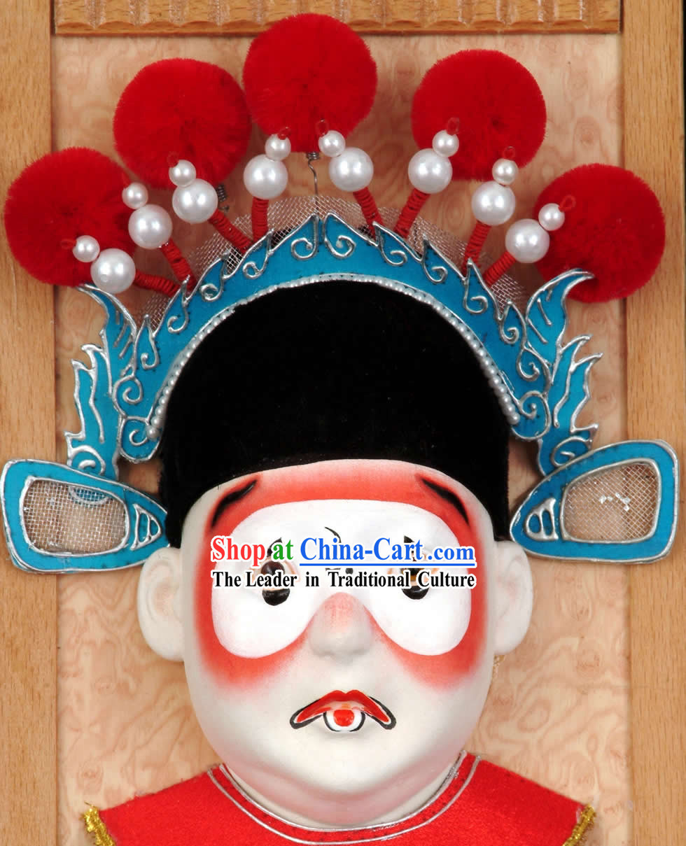 Handcrafted Peking Opera Mask Hanging Decoration - Chou Jue (Clown)