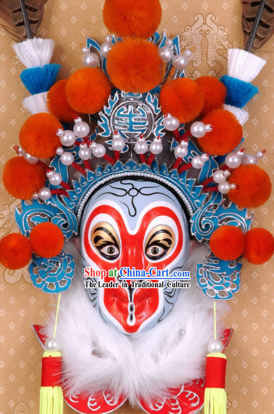 Handcrafted Peking Opera Mask Hanging Decoration - Sun Wukong