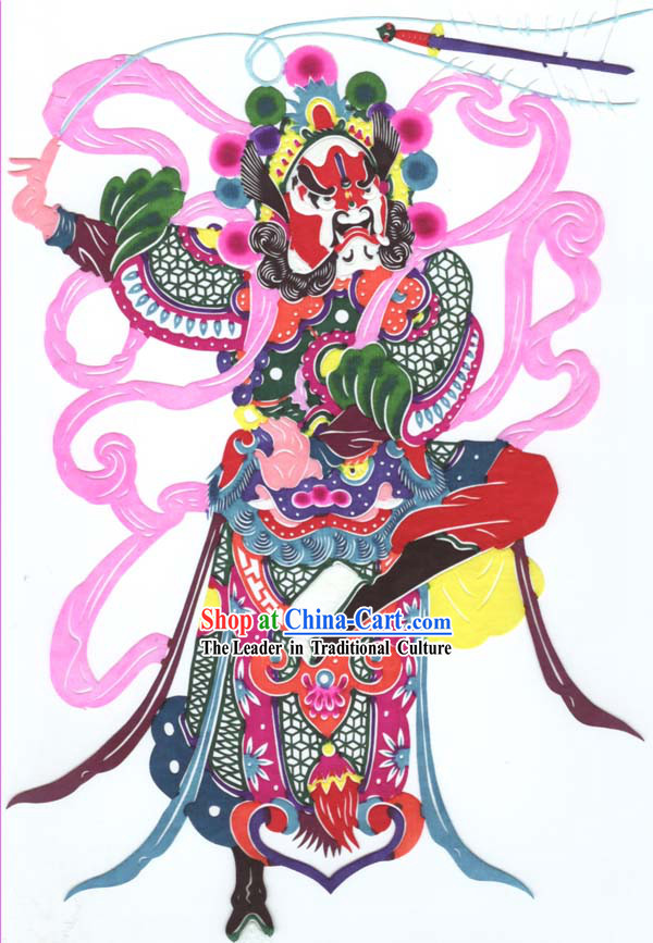 Chinese Classic Hand Made Papercut-One of the Four Heaven Kings 2