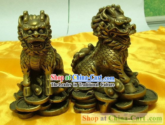 Chinese Classic Brass Statue-Feng Shui Kylin