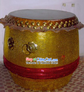 Chinese Lion and Dragon Dance Musical Instrument-Large Standing Drum