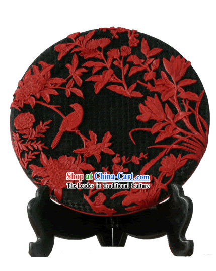 Chinese Double Face Palace Lacquer Works-Spring Time