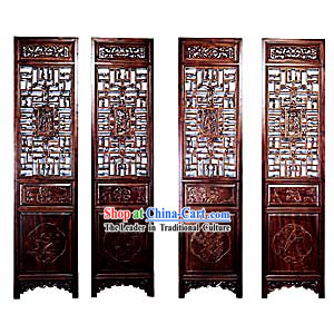 Boxwood Antique Style Folding Screen