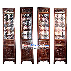 Mahogany Palace Style Folding Screen