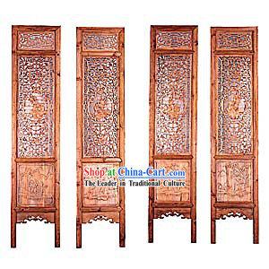 Mahogany Antique Style Folding Screen