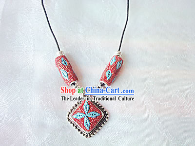 Tibet Sea Blessing Coral Necklace 2