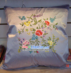 Chinese Palace Flower Silk Cushion