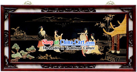 Chinese Palace Hanging Lacquer Ware Mirror Series-Ancient Four Beauties