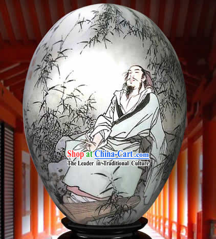 Chinese Wonders Hand Painted Colorful Egg-Bai Juyi