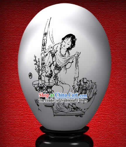 Chinese Wonder Hand Painted Colorful Egg-Xi Ren The Dream of Red Chamber