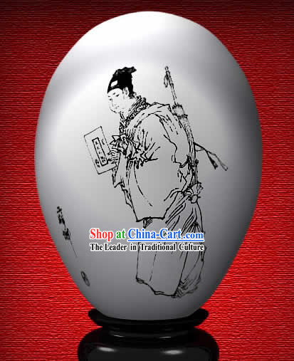 Chinese Wonder Hand Painted Colorful Egg-Ancient Scholar of The Dream of Red Chamber