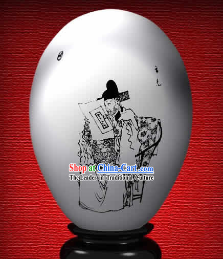 Chinese Wonder Hand Painted Colorful Egg-Yun Guang of The Dream of Red Chamber