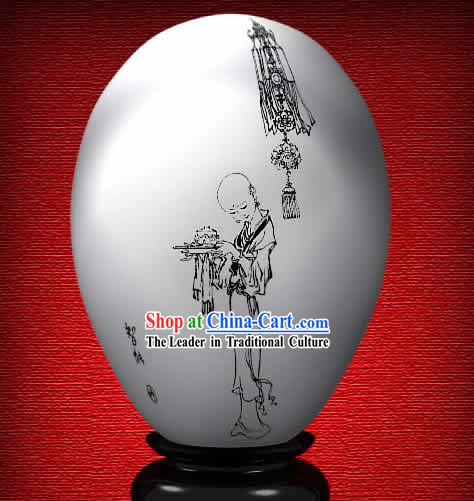 Chinese Wonder Hand Painted Colorful Egg-Zhi Neng of The Dream of Red Chamber