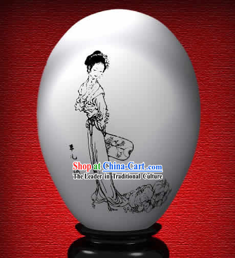 Chinese Wonder Hand Painted Colorful Egg-Ping Er of The Dream of Red Chamber