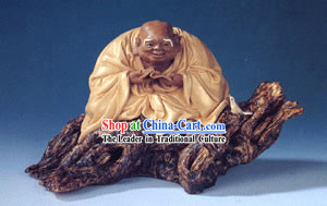 Hand Made Shi Wan Ceramics-Louhan in Reciting Sutra