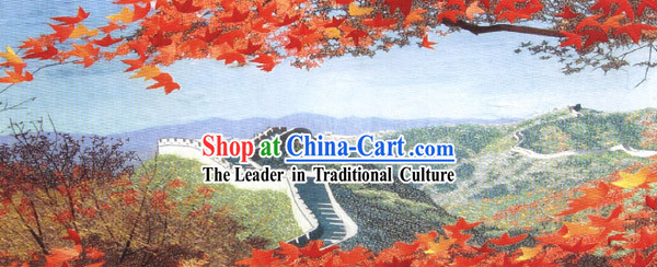 Large Hand Made Embroidery Hanging-China Great Wall