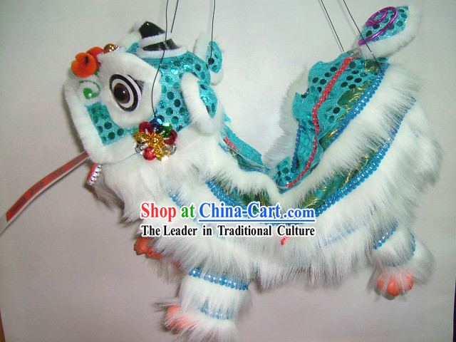 Chinese Classic Hand Puppet-Blue Lion Dance