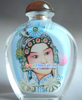 Snuff Bottles With Inside Painting Peking Opera Series-White Snake Fairy