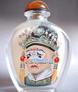 Snuff Bottles With Inside Painting Peking Opera Series-Ancient Clown