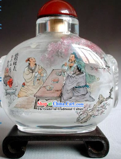 Snuff Bottles With Inside Painting Characters Series-Peach Garden Becoming Brothers