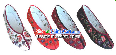 Chinese Classic Handmade Embroidery Shoes-Flowre Times