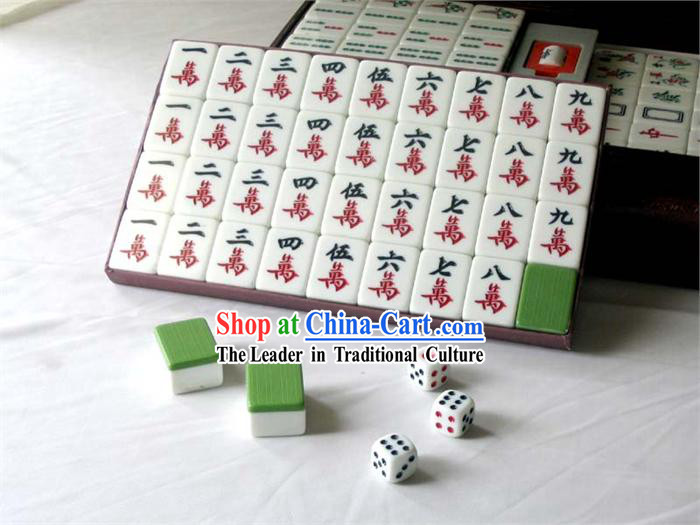 Chinese Taiwan Bamboo Mahjong Set_144 pieces_