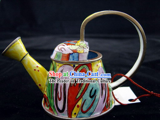 Chinese Hand Painted Enamel Watering Pot