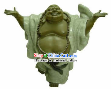 Chinese Porcelain Figurine from Shi Wan-Wise and Happy Monk