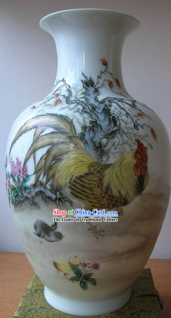 Chinese Jingde Town Ceramics Teapot-Chicken King