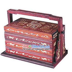 Chinese Red Lucky Fu Mahjong Box