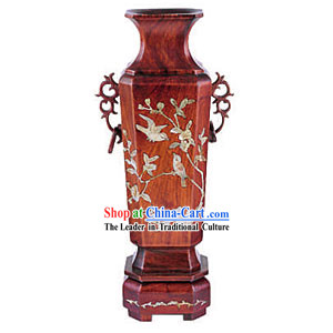 Chinese Palace Wood Handicraft Vase