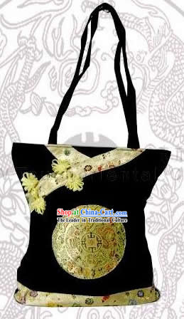 Chinese Classic Handmade Dragons Silk Bag