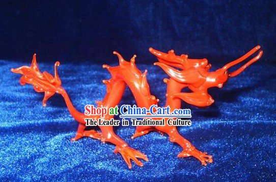 Chinese Classic Coloured Glaze Works-Red Dragon