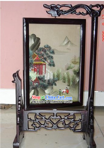 Chinese Classic Double-Sided Embroidery Handicraft-Ancient Landscape