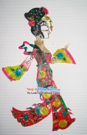 Traditional Chinese Hand Carved Shadow Play - Ancient Wife
