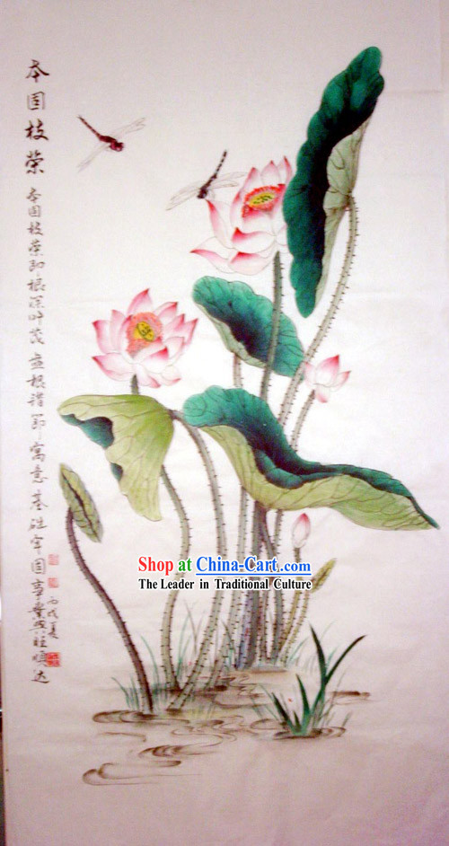 Chinese Traditional Painting with Meticulous Detail Painting-Thrush