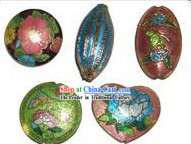 50 Pieces Chinese Classic Classic Large Cloisonne Beads