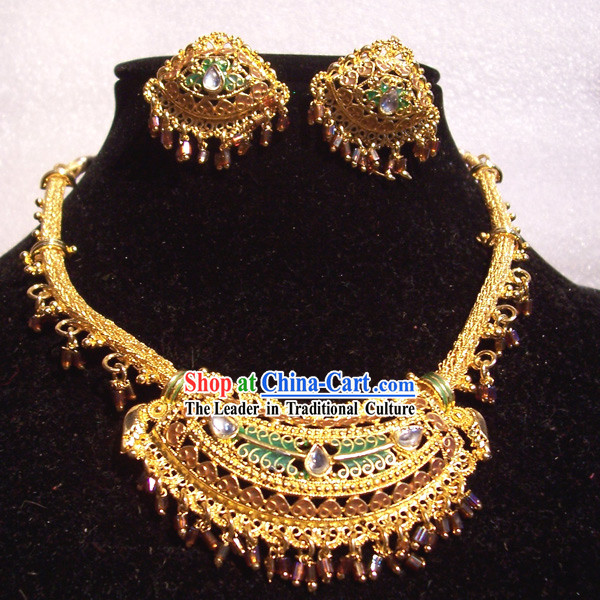 Indian Fashion Jewelry Suit-Golden World