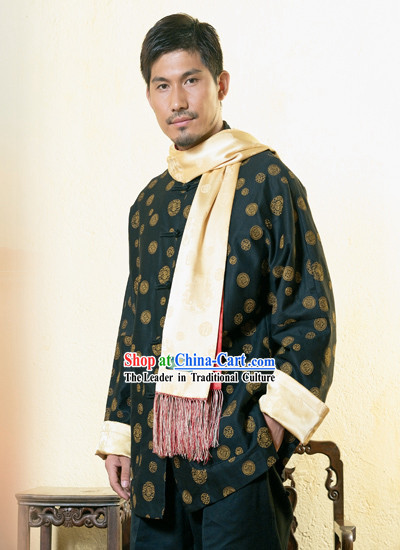 Chinese Classical Traditional Mandarin Blouse for Man-Hero