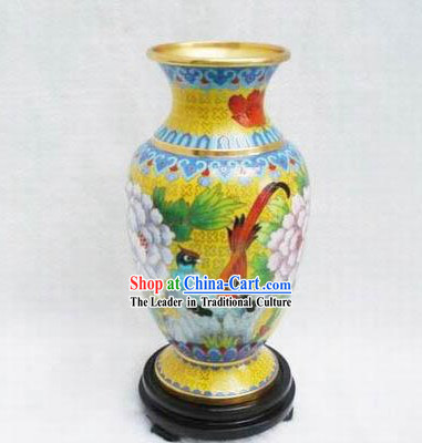 Chinese Cloisonne Goldfish Bowl-Bird King