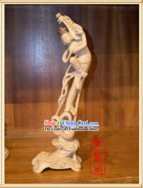 China Dunhuang Handicraft Statue-Playing Lute
