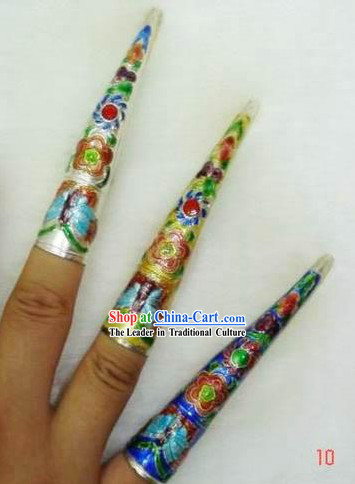 Chinese Cloisonne Long Fingernail