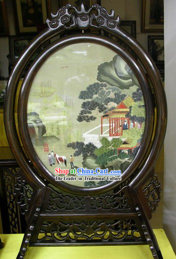 Chinese Double-sided Embroidery Handicraft-China Landscape