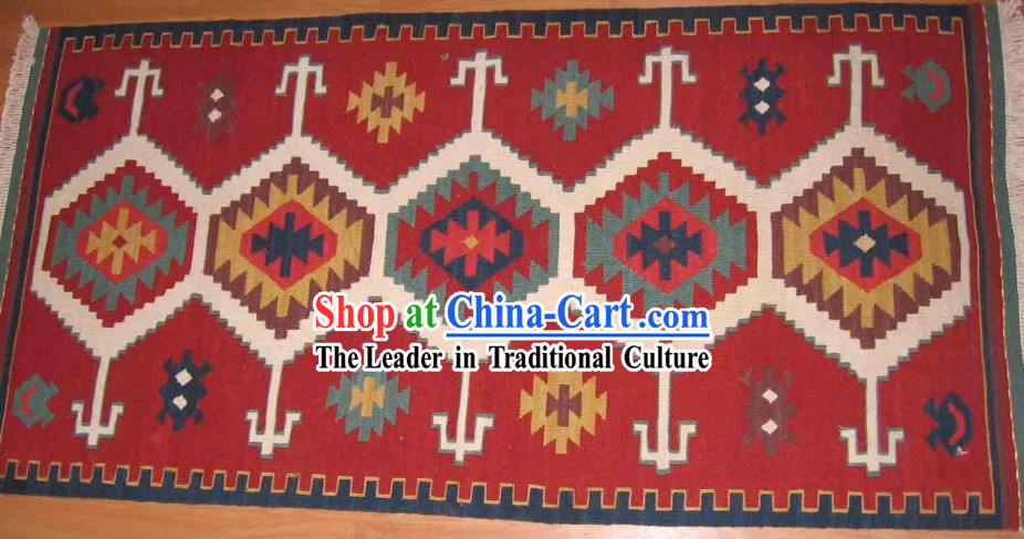 Art Decoration China Tibetan Large Hand Made Wool Rug (60*120cm)