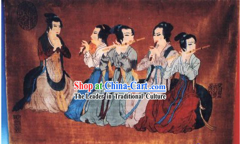Art Decoration Chinese Hand Made Thick Silk Arras/Tapestry/Rug (150x120cm)