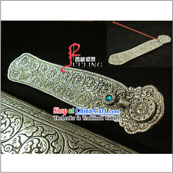 Tibetan 100% Hand Made Incense Silver Plate