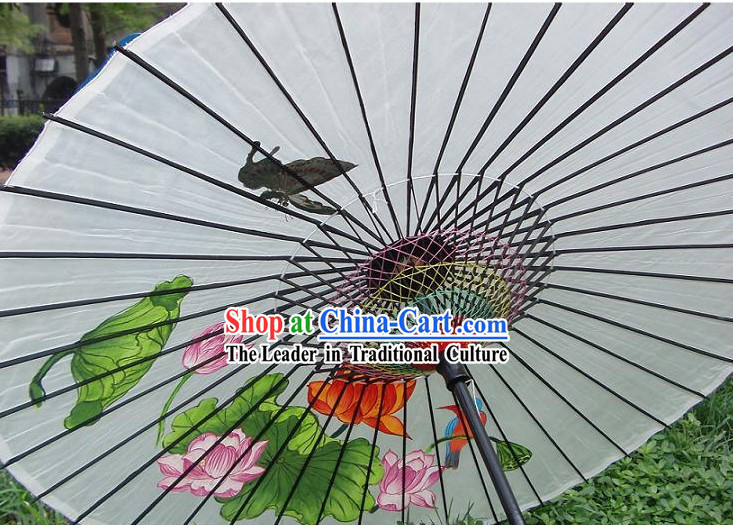 Chinese Hand Made and Painted Adult Size Silk Wedding Romantic Umbrellas/Parasols