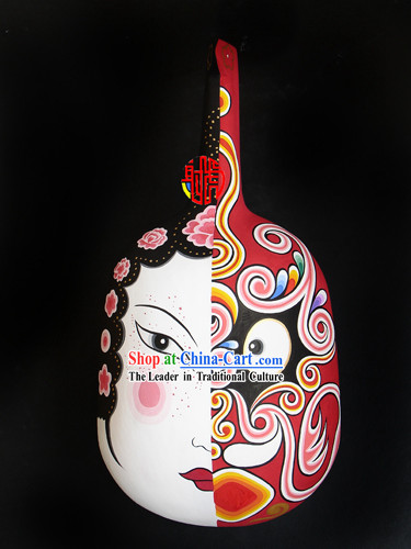 Chinese Hand Painted Du Huo Ma Shao Hanging Mask