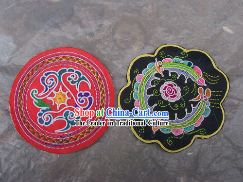 Chinese Stunning Miao Tribe Hand Embroidery Collectible-Mat